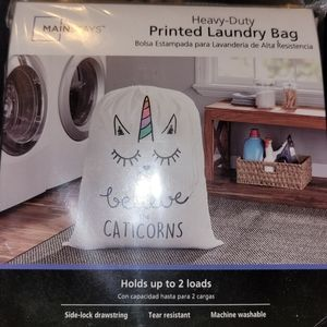 I Believe in Caticorns!! Heavy Duty Laundry Bag